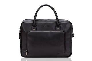 Повседневная мужская сумка Solier Коричневая (S19DarkBrown), фото 3