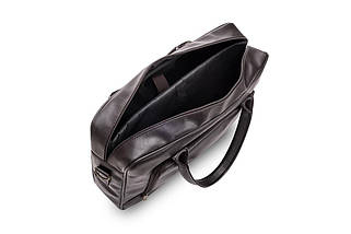 Повседневная мужская кожаная сумка Solier Коричневая (S19DarkBrown), фото 3