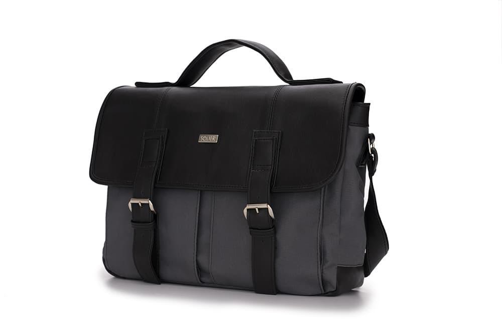 Городская мужская сумка Solier Серо - черная (S14GrayBlack)