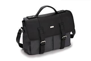 Городская мужская сумка Solier Серо - черная (S14GrayBlack), фото 2