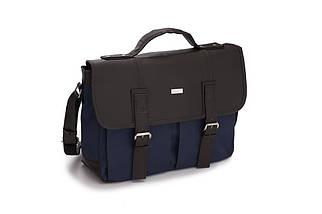 Городская мужская сумка Solier Сине - коричневая (S14GrayBlue), фото 2