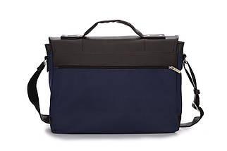Городская мужская сумка Solier Сине - коричневая (S14GrayBlue), фото 3
