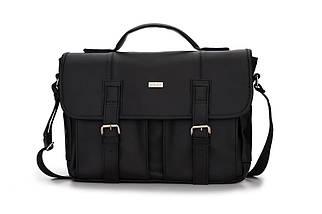 Городская мужская сумка Solier Черная (S14Black), фото 2
