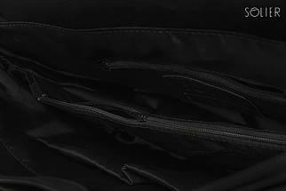 Городская мужская сумка Solier Черная (S14Black), фото 3