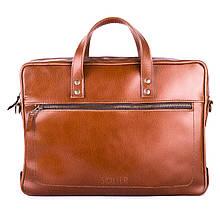 """Элегантная мужская сумка для ноутбука Solier 15 - 15,4"""" Светло - коричневая (SL04Camel), фото 2"""