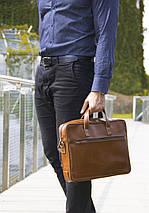 """Элегантная мужская сумка для ноутбука Solier 15 - 15,4"""" Светло - коричневая (SL04Camel), фото 3"""