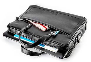 """Элегантная мужская сумка для ноутбука Solier 15 - 15,4"""" Черная (SL04Black), фото 2"""