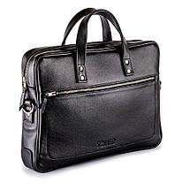 """Элегантная мужская сумка для ноутбука Solier 15 - 15,4"""" Черная (SL04Black), фото 3"""