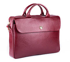 """Элегантная кожаная женская сумка для ноутбука Felice 15 - 15,6"""" Красная (FL16Red), фото 3"""