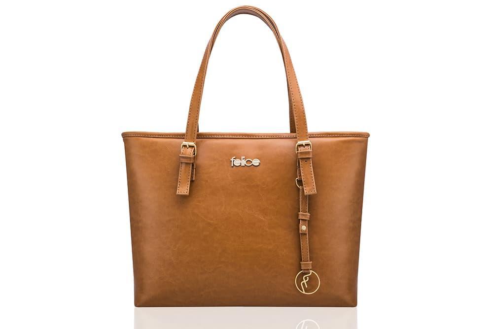 Кожаная женская сумка Felice Светло - Коричневая (LunaCamel)
