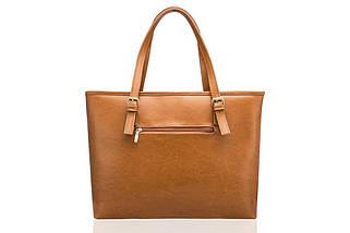 Кожаная женская сумка Felice Светло - Коричневая (LunaCamel), фото 2