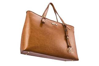 Кожаная женская сумка Felice Светло - Коричневая (LunaCamel), фото 3