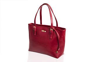 Кожаная женская сумка Felice Бордовая (LunaRed), фото 3