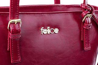 Кожаная женская сумка Felice Бордовая (LunaRed), фото 2