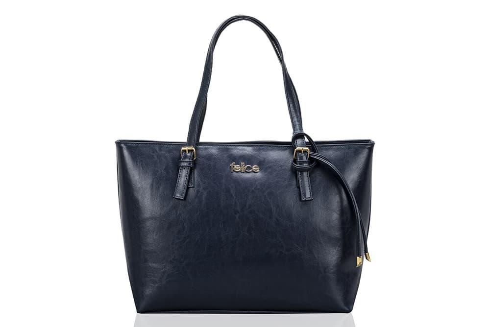Кожаная женская сумка Felice Синяя (LunaBlue)