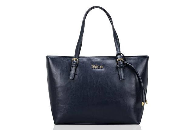 Кожаная женская сумка Felice Синяя (LunaBlue), фото 2