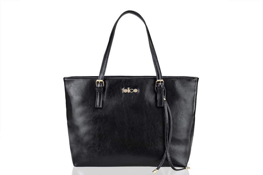 Кожаная женская сумка Felice Черная (LunaBlack)