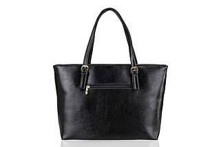 Кожаная женская сумка Felice Черная (LunaBlack), фото 3