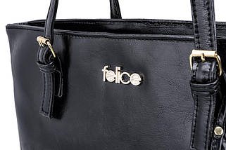 Кожаная женская сумка Felice Черная (LunaBlack), фото 2