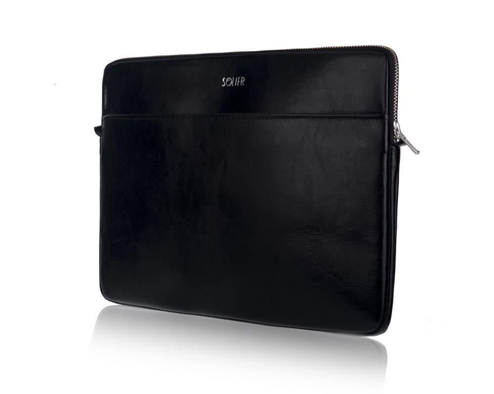 """Кожаный чехол для MacBook 15"""" Дюймов Solier Черный (SA24)"""