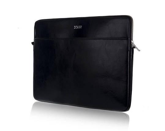 """Кожаный чехол для MacBook 15"""" Дюймов Solier Черный (SA24), фото 2"""