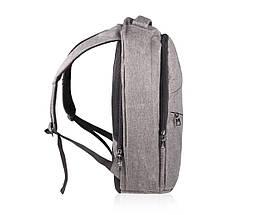 """Рюкзак для ноутбука 15"""" Дюймов Solier Серый (SV03), фото 3"""