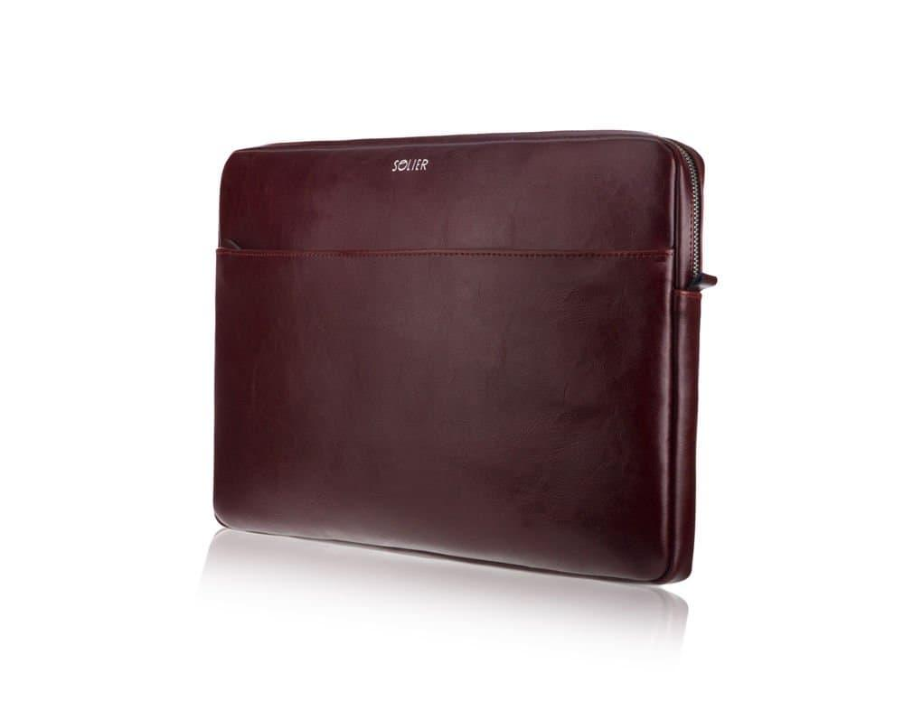 """Кожаный чехол для MacBook 13"""" Дюймов Solier Коричневый (SA24A)"""