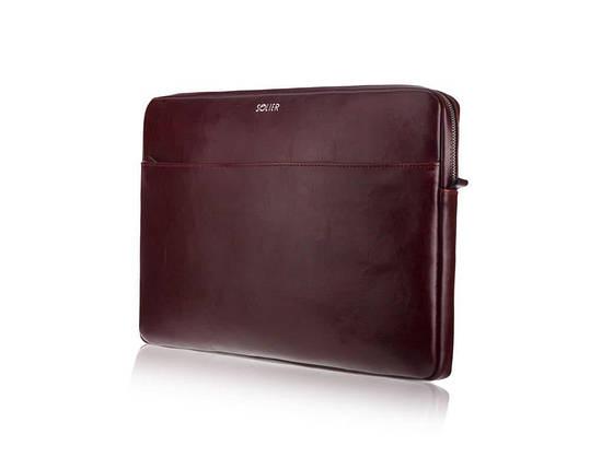 """Кожаный чехол для MacBook 13"""" Дюймов Solier Коричневый (SA24A), фото 2"""