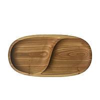 Тарелка деревянная, овальная 01