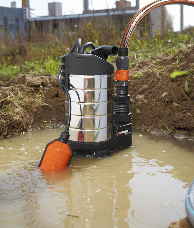 Насос дренажный для грязной воды Gardena 20000 Premium Inox котлован автомат. режим
