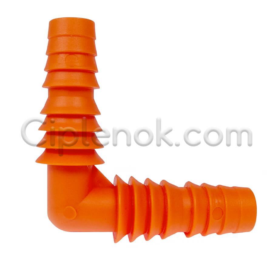 Штуцер угловой под шланг 14-20 мм (1/2-3/4)  оранж.