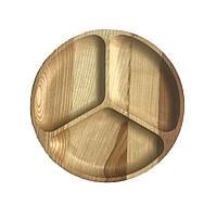 Доска для подачи блюд Менажница деревянная, круглая 03