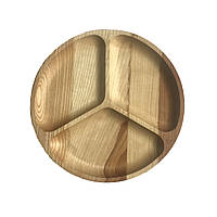 Тарелка деревянная, круглая 03