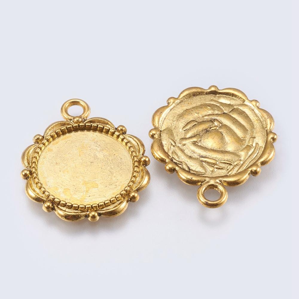 Основы для кабошонов сеттинги 23х19мм античное золото для рукоделия