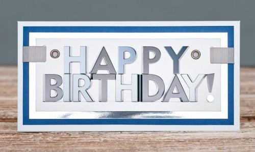 Открытка конверт Happy Birthday 3D