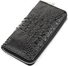 Кошелек Crocodile Leather 18268 Из Натуральной Кожи Крокодила Черный, Черный