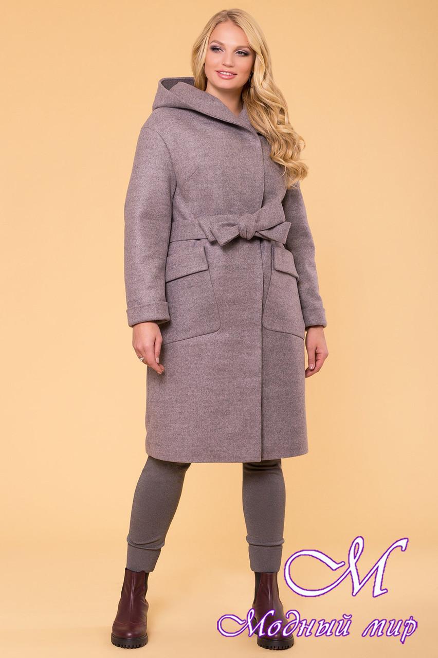 Женское стильное зимнее пальто больших размеров (р. XL, XXL, XXXL) арт. Анджи донна 5612 - 40689