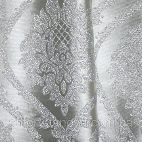 Декор алла-2 вензель люрекс серебро