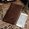 Бумажник Мужской Vintage 14129 Коричневый, Коричневый, фото 3
