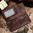 Бумажник Мужской Vintage 14129 Коричневый, Коричневый, фото 4