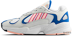 Женские кроссовки Adidas Yung-1 White Orange Royal BD7654, Адидас Янг 1