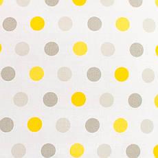 Детская простынь на резинке в кроватку BabySoon хлопок Горох серый и желтый 120 х 60 см (235)