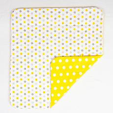 Дитяче бавовняну ковдру BabySoon Сонечко 80 х 85 см жовтий (211)