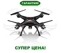 Квадрокоптер с камерой Syma X5SW (черный) - передает видео на смартфон или планшет