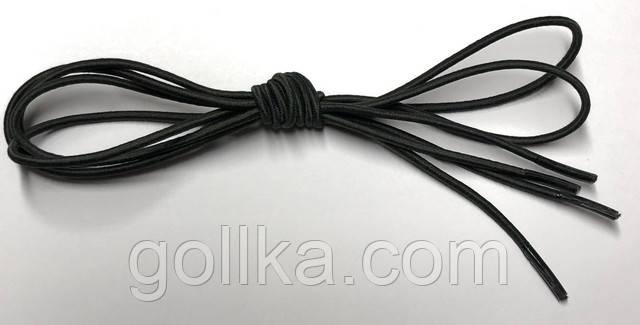 Шнурок круглый резиновый темный-хаки