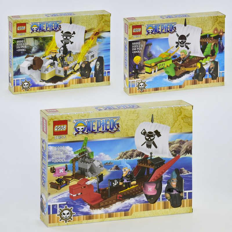 """Конструктор 66001-66002-66003 (60/2)  """"Пираты"""" 3 вида, в коробке"""