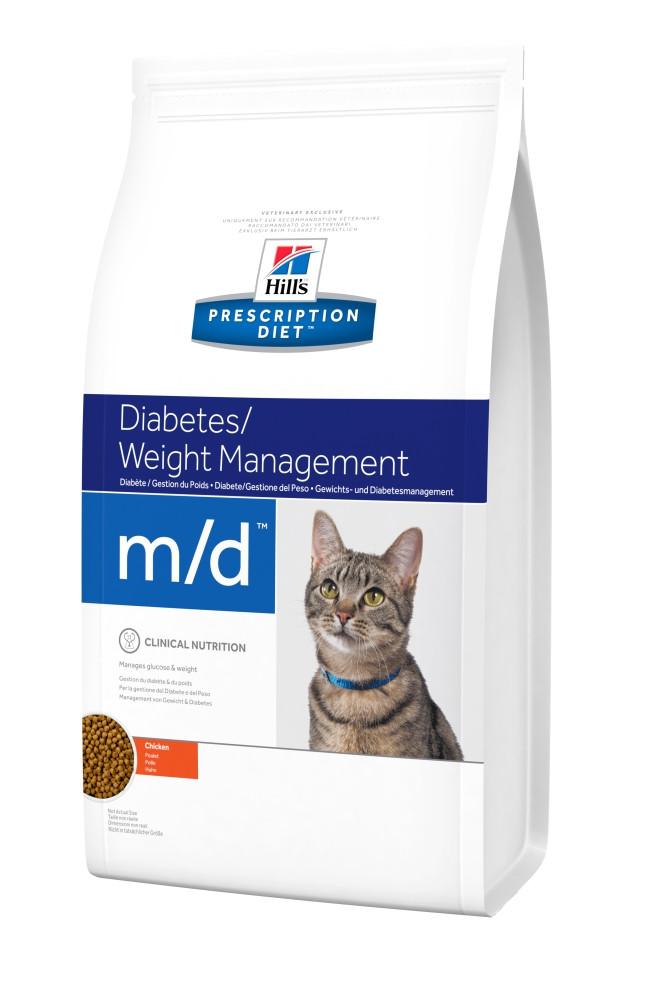 Hill's Prescription Diet Feline m/d Diabetes/Weight Management корм для кошек при диабете и ожирении, 1.5 кг