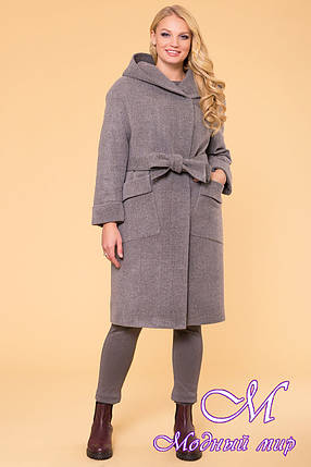 Женское элегантное зимнее пальто больших размеров (р. XL, XXL, XXXL) арт. Анджи донна 5612 - 40690, фото 2