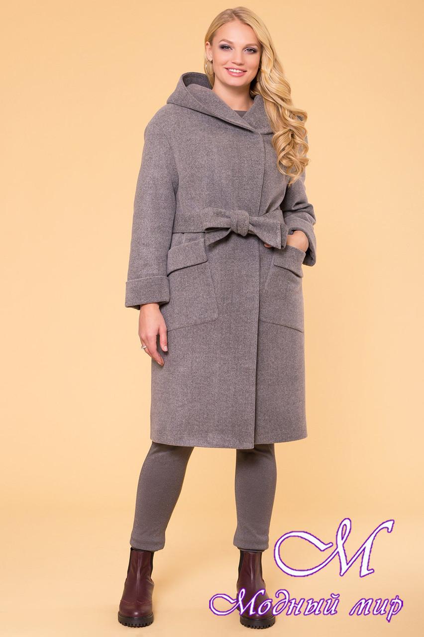 Женское элегантное зимнее пальто больших размеров (р. XL, XXL, XXXL) арт. Анджи донна 5612 - 40690