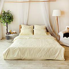 Комплект взрослого постельного белья Брейдж Страйп ТМ DS Home Line H01P Полуторный
